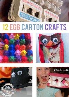 12 {Creative} Egg Carton Crafts - Kids Activities Blog