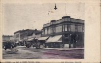 Front caption: Corner 11th and K Street, Tacoma, wash. Date: c. 1908
