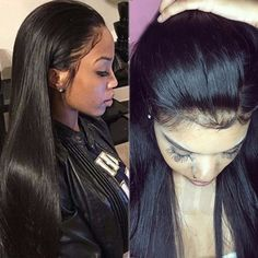 Silky Straight Glueless Lace Front Wigs Full Lace Wigs Human Hair Baby Hair