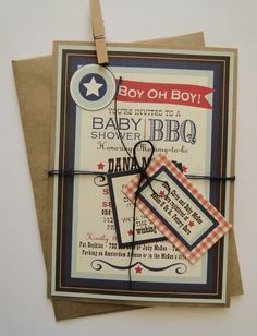 Custom BBQ Shower Invitations for Wedding or Baby - Made to Order. $100.00, via Etsy.