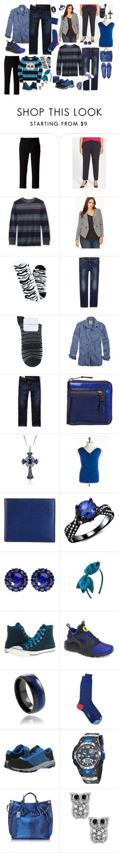 """blue stripes"" by sterlingkitten on Polyvore featuring The Children's Place, MICHAEL Michael Kors, Forever 21, 7 For All Mankind, Hansel from Basel, American Eagle Outfitters, Hollister Co., Kate Hill, Valextra and Color My Life"
