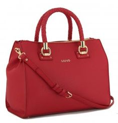 !!!Liu Jo Satchel Manhattan red Henkeltasche geflochten rot Liu Jo, Manhattan, Fashion, Dime Bags, Artificial Leather, Moda, La Mode, Fasion, Fashion Models