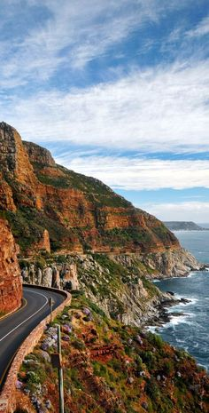 The famous Chapman's peak near Hout bay Cape Town South Africa