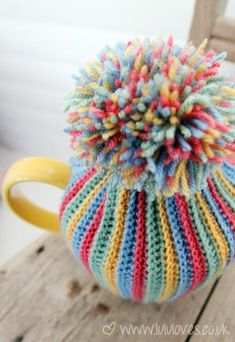 Knit or Crochet Mug Hug Snugs, Tea Cozy/Cosy/Cosies! And other wraps for food items Crochet tea cozy