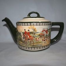 Royal Doulton Hunting Scene The Quorn Hunt teapot with lid D4468 SCARCE