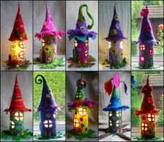 Adorable-Felt-Fairy-Houses