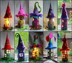 Adorable-Felt-Fairy-Houses