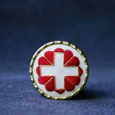 Swiss winter rescue 1939 brooch