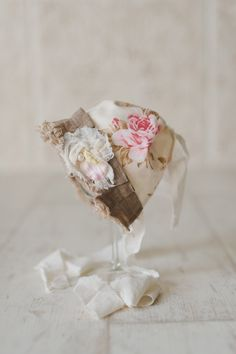 STELLA. Pink and Cream. Floral Fabric. Baby Bonnet. Vintage Style. Shabby Chic. Baby Girl. Newborn  Photography Prop. $36.00, via Etsy.