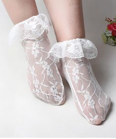 Women Lace Ruffle Ankle Socks