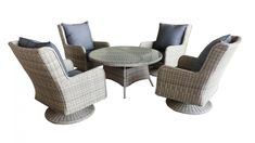 Buy Austin 5 Piece Outdoor Swivel/Rocker Round Dining Setting | Harvey Norman AU
