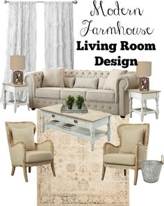 3 tips for designing a farmhouse style living room