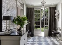 South Shore Decorating Blog: Eye Candy: Beautiful Living Rooms, Dining Rooms, Kitchens, Family Rooms and More  Nice grey palette