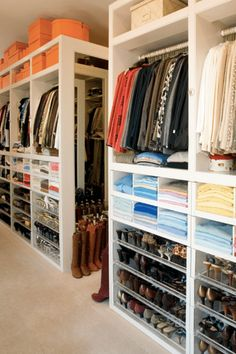 53 Elegant Closet Design Ideas For Your Home. Unique closet design ideas will definitely help you utilize your closet space appropriately. An ideal closet design is probably the only avenue . Master Closet Design, Walk In Closet Design, Closet Designs, Wardrobe Design, Wardrobe Storage, Closet Storage, Box Storage, Storage Spaces, Closet Bedroom