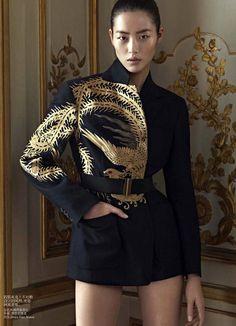 Liu Wen by Karim Sadli for Vogue China December 2012