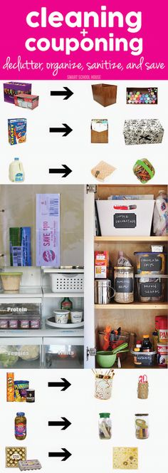 Cleaning + Couponing. Tips to declutter, organize, sanitize, and save!