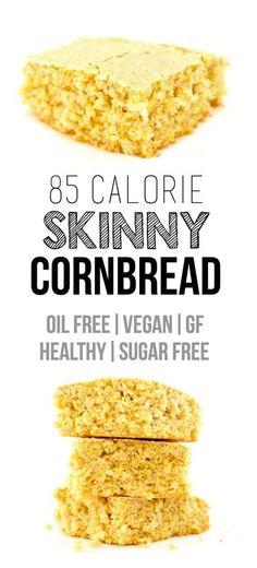 Healthy Vegan Cornbread (Low-Calorie, Gluten-Free, Oil-Free)