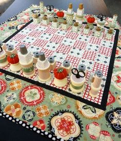 I'm not a chess player nor a stitcher, but this is very creative and obviously took quite a bit of work!!!!