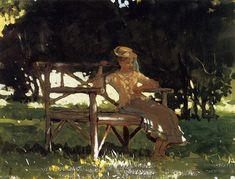 Summer Women in America - Winslow Homer Whistler, Winslow Homer Paintings, Garden Painting, Illustrations, American Artists, Figurative Art, Female Art, Les Oeuvres, Watercolor Art