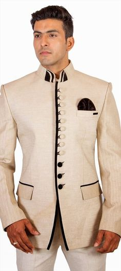 Indo-western #menswear for weddings and parties. shop today!  #Groom #Partywear #menstyle #white #Suit #bestman #onlineshopping #indianwedding #sale #buttons