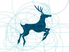 """""""Still-practice,"""" deer logo concept by Agustian Eko Saputro. The reason this design looks so aesthetically pleasing is that it's built on perfect forms (circles) and proportions (Golden Ratio)."""