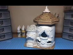 Hi Guys today I show you how to make an air paper dry clay using toilet paper! this can be a substitute for cold porcelain, polymer clay, etc. Clay Projects, Diy Craft Projects, Clay Crafts, Easy Fall Crafts, Diy And Crafts, Bougie Yankee Candle, Clay Fairy House, Fairy Tree, Clay Fairies