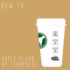 Eating and drinking vegan at Starbucks is SO EASY! Check it out: http://www.peta2.com/lifestyle/surprisingly-vegan-starbucks/?utm_campaign=0413%20Vegan%20Starbucks_source=peta2%20Pinterest_medium=Promo