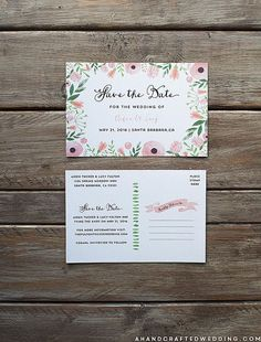 Here Is A List Of Beautiful And Free Save The Date Templates - Wedding save the date postcard templates free