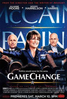 Game Change. Julianne Moore is sooo good as Sarah Palin!