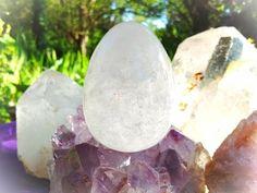 Clear Quartz Yoni Egg: Large LCQ8 by TheWomanWhole on Etsy