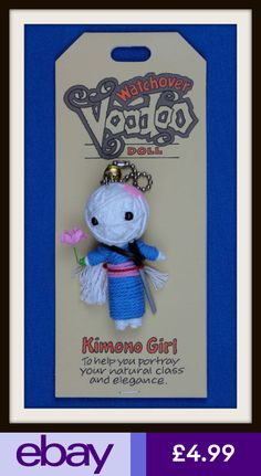 #eBayKeyrings Collectables Diy Voodoo Doll Keychain, Watchover Voodoo Doll, String Voodoo Dolls, Magic Spells, Diy And Crafts, Goth, Crafty, Christmas Ornaments, Sewing