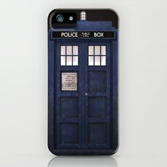 Tardis+front+iPhone+&+iPod+Case+by+D.N.A.+-+$35.00
