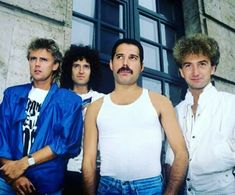 Queen in Munich, Germany to promote 'The Works' album, September 16, 1984.