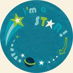 modernrugs.com NEW! Kid's Star Glow In The Dark Modern Rug. It's the perfect companion to a dream lite pillow pet!