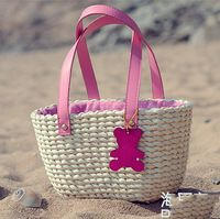 Bolsa de palha praia quente sacos de Material de luz A1141
