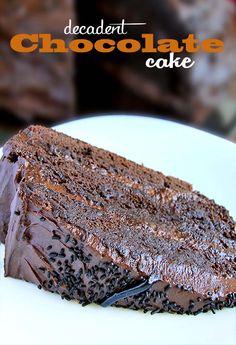 Decadent Chocolate Cake Recipe #chocolate #cake