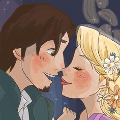 Rapunzel and Flynn :3
