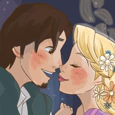 Rapunzel and Eugene..... so Cute.....