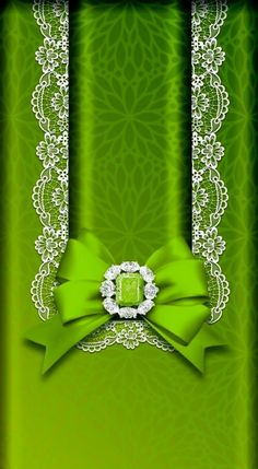 By Artist Unknown. Bow Wallpaper Iphone, Phone Background Wallpaper, Samsung Galaxy Wallpaper, Green Wallpaper, Cellphone Wallpaper, Lock Screen Wallpaper, Phone Backgrounds, Wallpaper Backgrounds, Ribbon Bows