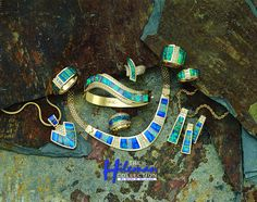 Awesome Australian opal necklace, bracelet, pendants, earrings and rings with diamond accents set in gold by The Hileman Collection. Jewelry Sets, Fine Jewelry, Jewellery, Australian Opal Jewelry, Opal Necklace, Earrings, Love Ring, Photo Jewelry, Opal Rings