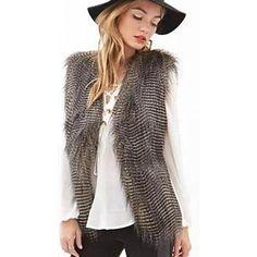Taylor Faux Fur Sleeveless Vest