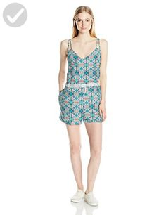 Roxy Junior's Moon Safari Short Romper, Marshmallow Land of Tehotihuacan, S - All about women (*Amazon Partner-Link)