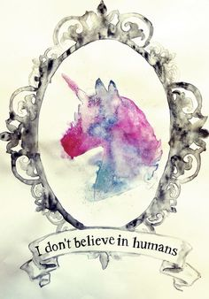 Watercolor Unicorn... In a frame. amazing.
