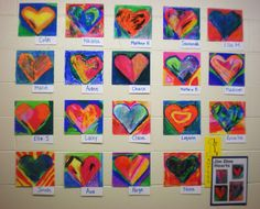 One of my lessons: Miss M's Art Room: Pop Art Hearts