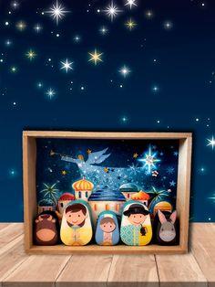 @resinaup Nativity, Frame, Modern, Home Decor, Nativity Sets, Picture Frame, Trendy Tree, Decoration Home, Room Decor