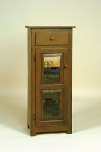 Choose a beautiful handpainted design for this Amish Jelly Cabinet.