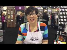 Dina Wakley Creativation 2017 Scribble Sticks Demo | Ranger Ink and Innovative Craft Products