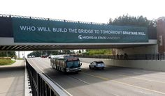 MSU Bridge Banner created by Extra Credit Projects