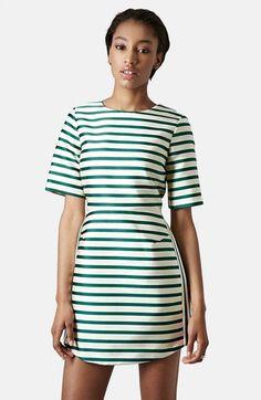 @topshop from @nordstrom stripe satin dress #NSale #stripes