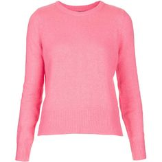 TOPSHOP Knitted Fluffy Jumper (32 CAD) ❤ liked on Polyvore featuring tops, sweaters, jumpers, topshop, blusas, bubblegum pi, pink jumper, topshop jumpers, topshop sweater and jumpers sweaters